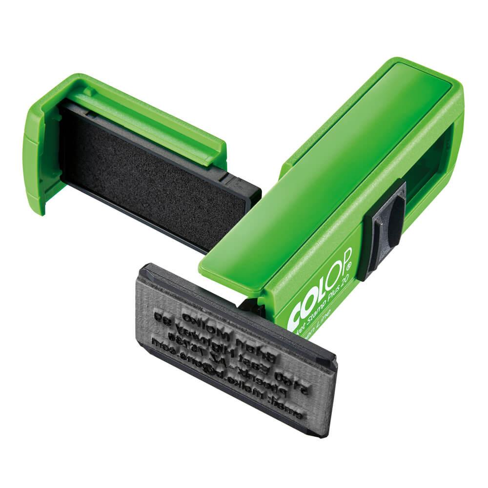 COLOP-Pocket-Stamp-20-Green-Line