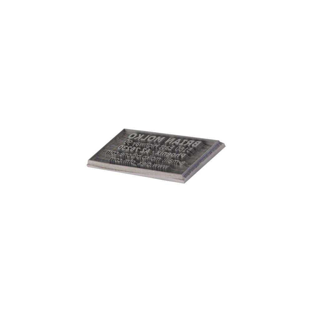 Textová deska pro COLOP Pocket Stamp Plus 20 Microban